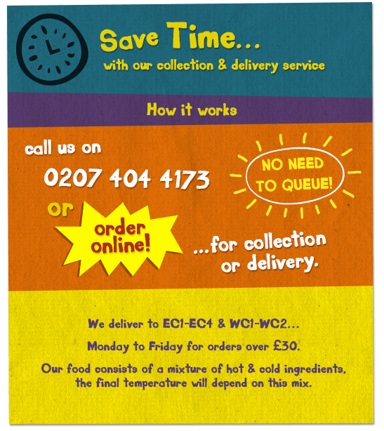 Save time with our collection and delivery service, Monday - Friday, 11am - 4pm